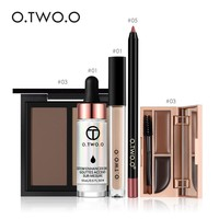 O.TWO.O Makup Tool Kit 5 PCS Make up Cosmetics Including Lipliner Eyebrow Highlighter Concealer Powder With Package