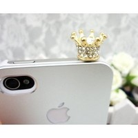 OrangeTag Dust Plug-earphone Jack Accessories Crystal Queen Crown / Cell Charms / Dust ...