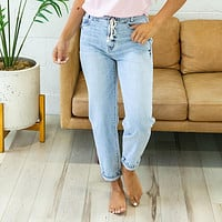 NEW! KanCan Carly Slouchy Fit Drawstring Jeans