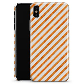 The Grunge Orange and White Slanted Lines  - iPhone X Clipit Case