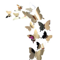 2016 3D wall stickers butterfly wall decor vinilos paredes wall sticker 3d movie wall stickers room decorations bathroom poster