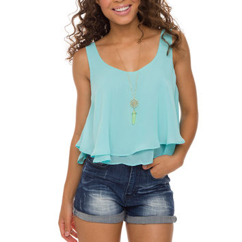 Highlight Of My Day Crop Top - Blue