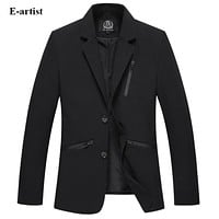 Men's Slim Fit Blazer Jackets Business Casual Suit Coats Male Outwear Overcoats for Spring Autumn