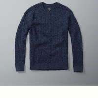 Cable Knit Crew Sweater