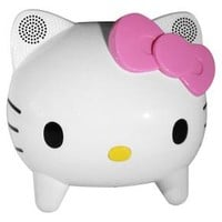 Hello Kitty Bluetooth Speaker System - White/Pink (KT4557)