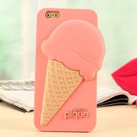 Solid 3D Ice Cream Silicone Mobile Phone Soft Case Shell For Iphone5/5S/6 4.7/6 plus 5.5