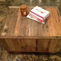 Reclaimed Barnwood Coffee Table Box
