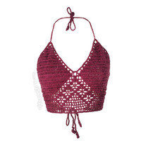 Crochet Halter Tank Top on Sale for $16.95 at HippieShop.com