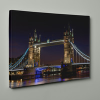 London's Tower Bridge on Mirror Wrapped Canvas