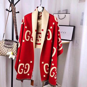GG Women's Double G Letter Shawl Scarf