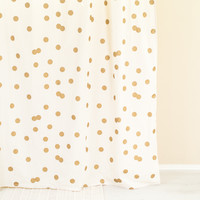 Polka Dot Gold & White Shower Curtain