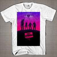 Guardians Of The Galaxy IMAX  Mens and Women T-Shirt Available Color Black And White