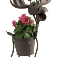 """Hal the Moose indoor or outdoors (garden) décor plant stands. Holds 6"""" pots - 23"""" inches tall"""