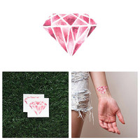 Crystal Clear - Temporary Tattoo (Set of 2)