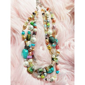 EVE - Cascading Bead Necklace