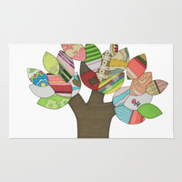 Button Tree Rug by Erin Brie Art