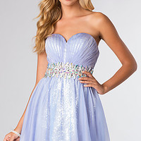 Short Strapless Sequin Party Dress by Blush