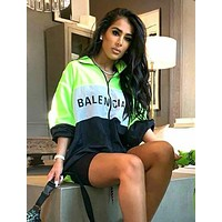 BALENCIAGA Fashion Women Men Casual Print Zipper Jacket Coat Windbreaker