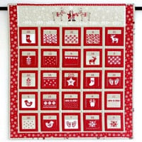Advent Calendar, Quilted Christmas Wall Hanging, Fabric Calendar with 25 Treat Pockets, Calendar for Kids, Scandinavian Style