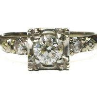 1950's Vintage Retro Diamond Ring by Bellman Jewelers