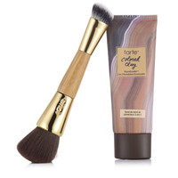 Tarte Colored Clay Foundcealer 2-in-1 Foundation & Concealer with Brush   QVCUK.com