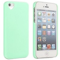 The Heart Shaped Jelly Ice Cream Case for iPhone 5/5S ( Color : Green )