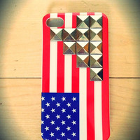 American flag studded iPhone 4/4s case