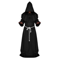 Halloween Cosplay Middle Ages Monk Wizard Christian black