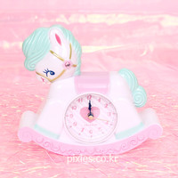 Swimmer Rocking Horse Table Clock