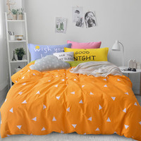 Nordic Bedding set 4pcs for queen twin size 100% cotton cartoon kids duvet cover set bed linen bed sheet fitted sheet bedspread