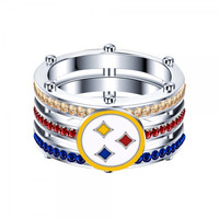 Most Popular Pittsburgh Steeler 925 Sterling Silver Women And Men's Ring