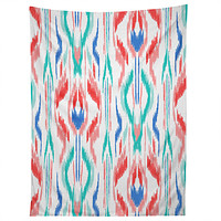 Jacqueline Maldonado Sun Dress Ikat Blue Tapestry