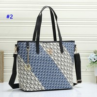 CH hot casual lady shopping bag fashion printed patchwork color shoulder bag #2