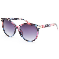 Full Tilt Crystal Floral Cateye Sunglasses Black One Size For Women 25748710001
