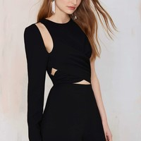 Nasty Gal Head Rush Cutout Romper