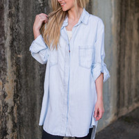 Effortless Ease Top, Light Chambray