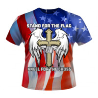 Stand For The Flag Kneel For The Cross - Full Color By Dixie Outfitters®