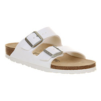 Birkenstock Arizona Two Strap White Birko Flor - Sandals