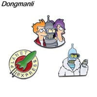 P2788 Dongmanli Futurama Enamel Pins and Brooches for Women Men Lapel pin backpack bags badge jacket