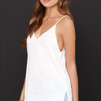 Will You V Mine? Ivory Tank Top