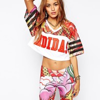 Adidas Originals X Rita Ora Crop Top In Dragon