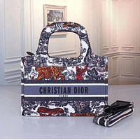 DIOR Women Leather Tote Crossbody Satchel Shoulder Bag Handbag Bag
