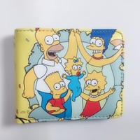 2018 new arrival The Simpsons Student Teen Short Boy and Girl Wallets W1167Y
