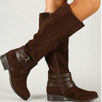 Strappy Boots: Brown