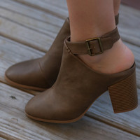 Step It Up Taupe Ankle Booties