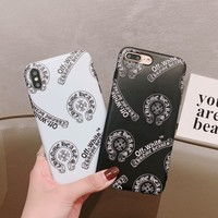 Chrome hearts Tide brand leather for men and women iPhone xr phone case cover