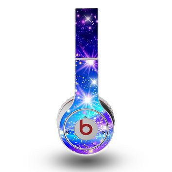 The Glowing Pink & Blue Starry Orbit Skin for the Original Beats by Dre Wireless Headphones