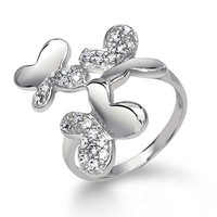 Bling Jewelry Trio Butterfly Ring