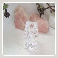 Swirl Clear Square Glass Chime Candle Holder