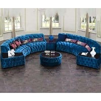 Rich Look Classified Luxurious Fabric Sofa Set